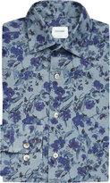Duchamp Floral Tailored-fit Denim Shirt