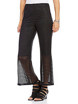 IC Collection Striped Sheer Elastic Waistband Pants