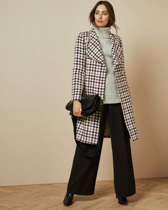 Ted Baker ABELLAA Houndstooth wrap coat