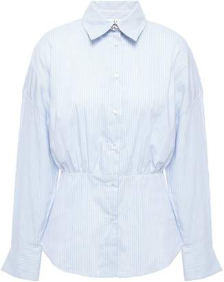 Sandro Striped Cotton-blend Poplin Shirt