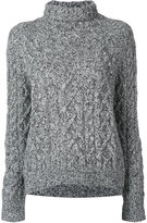 Vince cable-knit roll neck sweater