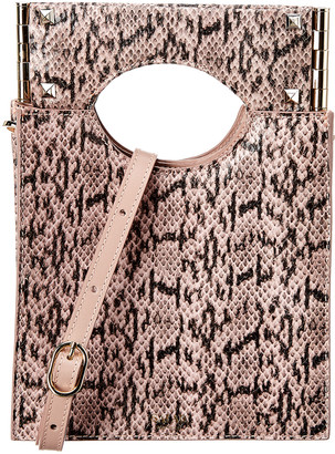 Salar Milano Arya Snake-Embossed Leather Shoulder Bag