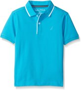 Nautica Big Boys' Short Sleeve Cruise Deck Tipped Polo