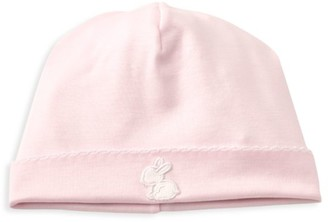 Kissy Kissy Baby Girl's Pique Baby Bunny Embroidered Hat