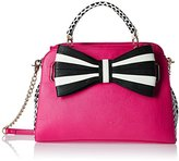 Betsey Johnson 1,2,3 Bow Satchel Bag