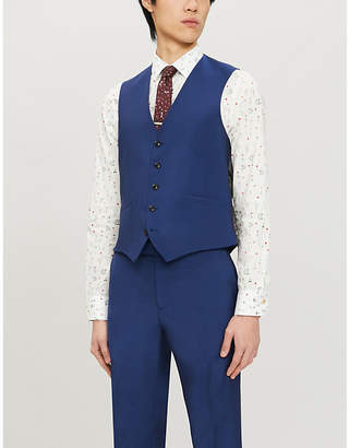 Paul Smith Slim-fit wool and mohair-blend waistcoat