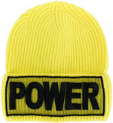 Versace Power embroidered beanie hat
