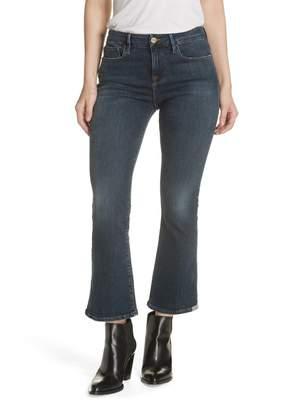 Frame Le Crop High Waist Mini Boot Jeans (Squire)