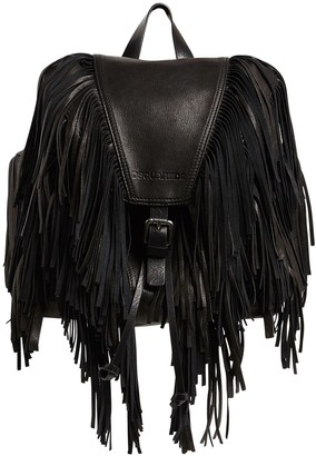 DSQUARED2 Fringed Leather Backpack