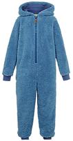 Fat Face Children's Walrus Fleece Onesie, Blue