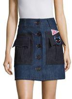 Miu Miu Denim Pocket Skirt