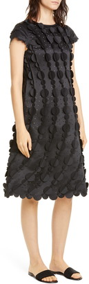 PASKAL clothes Laser Cut Circle Scalloped A-Line Dress