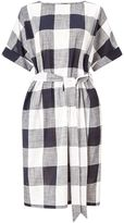 Jigsaw Feather Gingham Belted Dress