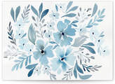 Minted Chinoiserie Floral in Prussian Blue Desktop Wallpaper