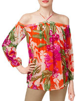 I.N.C International Concepts Floral-Print Halter Top