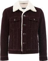 Lanvin shearling denim jacket - men - Cotton/Calf Leather/Viscose/Lamb Fur - 48