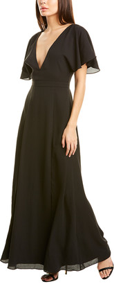 Fame & Partners V-Neck Gown
