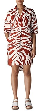 Whistles Lola Graphic Zebra Linen Dress