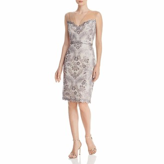 Tadashi Shoji Women's SLVLESS Sequin LACE Dress W/Illusion SLV