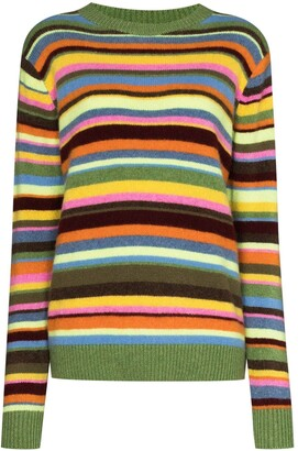 The Elder Statesman Striped Crewneck Jumper