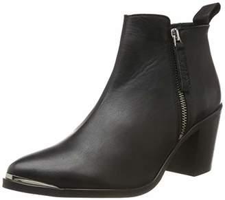 Gardenia COPENHAGEN Women's Short Boot with zip both sides, Black (Black 10), (39 EU)