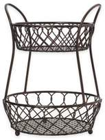 Mikasa 2-Tier Lattice Countertop Basket in Black