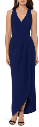 Xscape Evenings Tulip Hem Sleeveless Crepe Gown