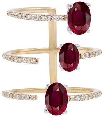 Diana M Fine Jewelry 18K 2.48 Ct. Tw. Diamond & Ruby Ring
