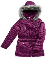 Hawke & Co Girls 7-16 Quilted Faux Fur-Accented Coat