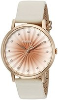 Fossil Women's ES3992 Vintage Muse White Leather Watch