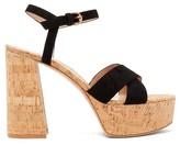 Gianvito Rossi Bebe 70 Crossover-strap Suede Platform Sandals - Womens - Black