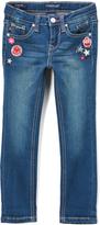 Vigoss Blue Little Patch Skinny Jeans - Girls