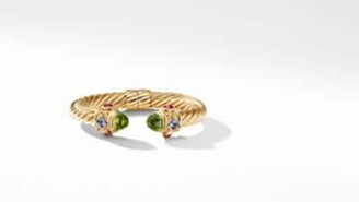 David Yurman Renaissance Bracelet With Peridot And Tanzanite In 18K