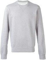 Maison Margiela elbow patch sweatshirt - men - Cotton/Calf Leather - 46