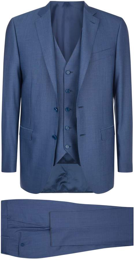 Canali Three Piece Wool Suit