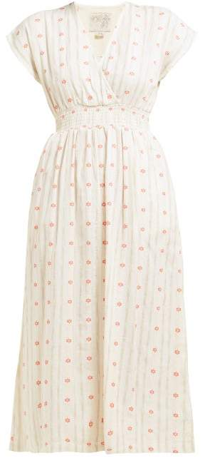 Ace&Jig Fay Tulip Jacquard Cotton Dress - Womens - Ivory