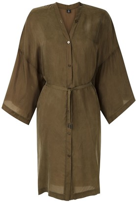 OSKLEN Tie-Waist Shirt Dress