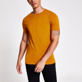 River Island Mens Orange muscle fit short sleeve T-shirt