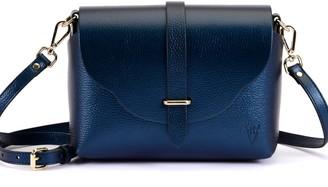 Atelier Hiva Midi Harmonia Leather Bag Navy Blue