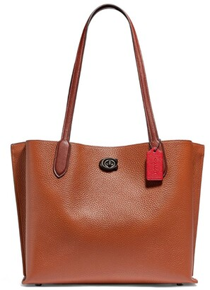 Coach Leather Willow Tote Bag