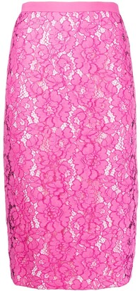 No.21 Floral Lace Pencil Skirt