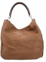 Saint Laurent Straw Roady Bag