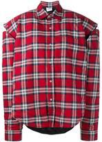 Vetements oversized checked shirt