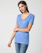 Le Château Jersey Scoop Neck Top