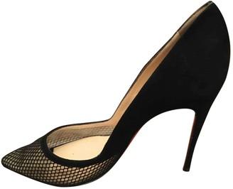Christian Louboutin So Kate Black Suede Heels