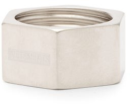 Vetements Nut Logo-engraved Ring - Silver