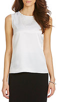 Kasper Charmeuse Sleeveless Top