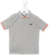 Boss Kids geometric print polo shirt