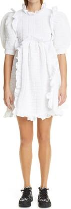Cecilie Bahnsen Lotta Short Sleeve Ruffle Dress