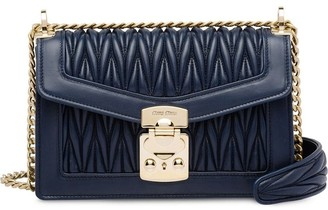Miu Miu Miu Confidential matelasse leather bag